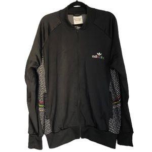 Adidas Mens Adicolor Black Multicolor Track Jacket